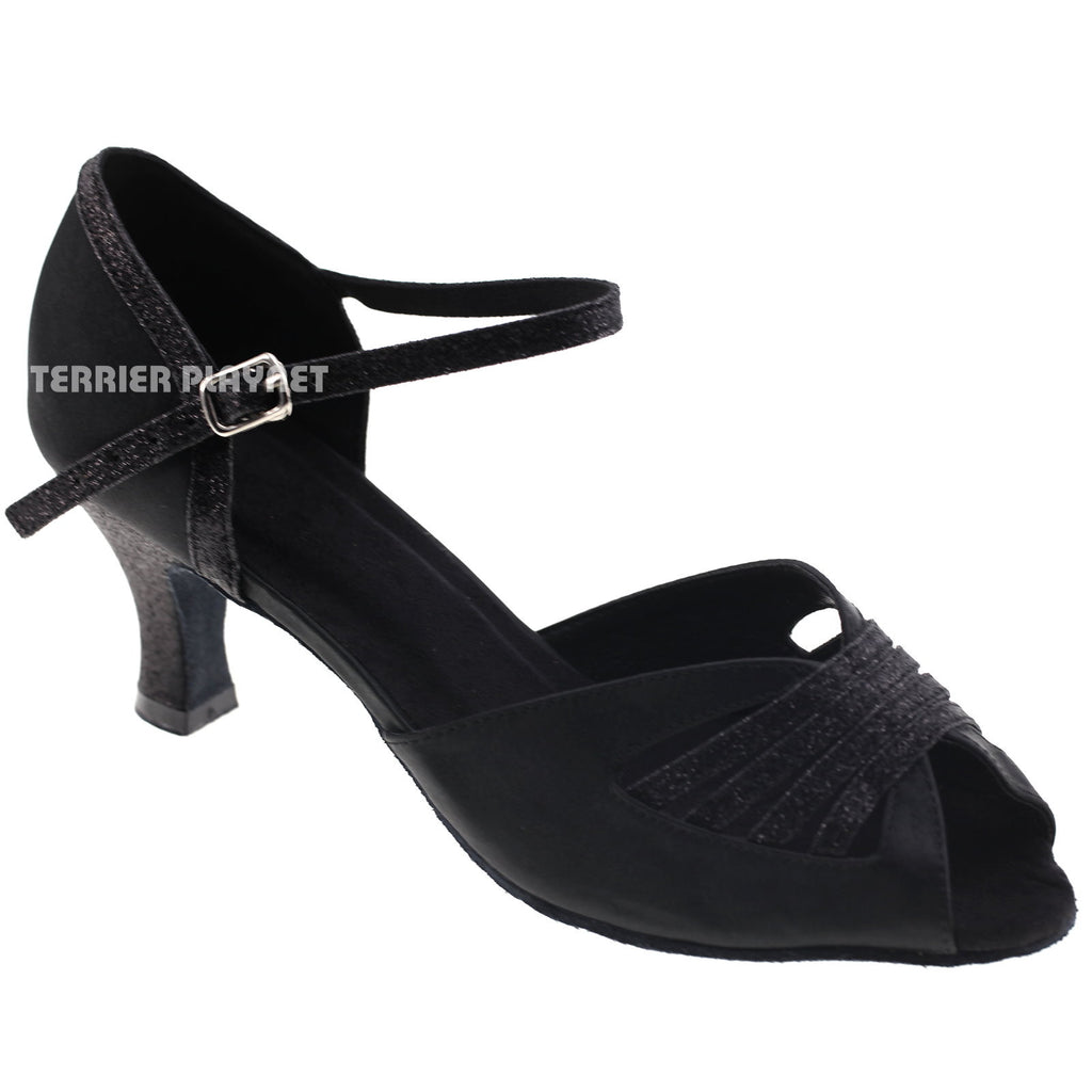 Black Women Dance Shoes D313 - Terrier Playnet Shop