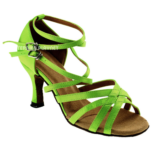 Light Green Women Dance Shoes D332