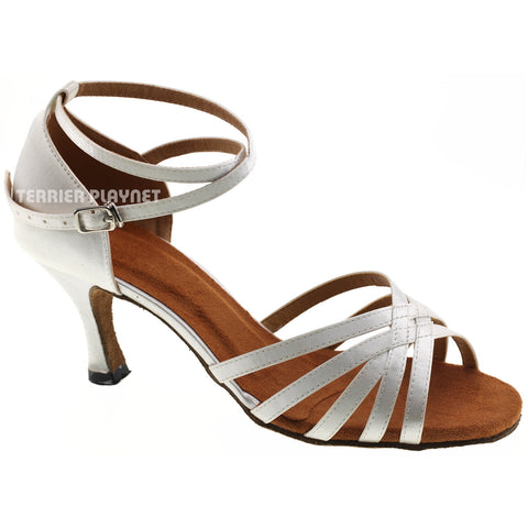 White Women Dance Shoes D337