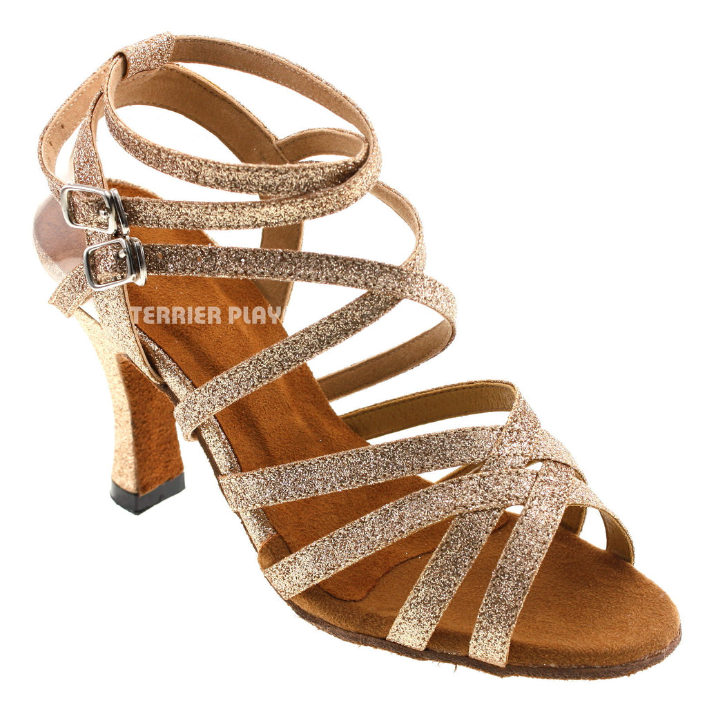 Gold Women Dance Shoes D34 - Terrier Playnet Shop