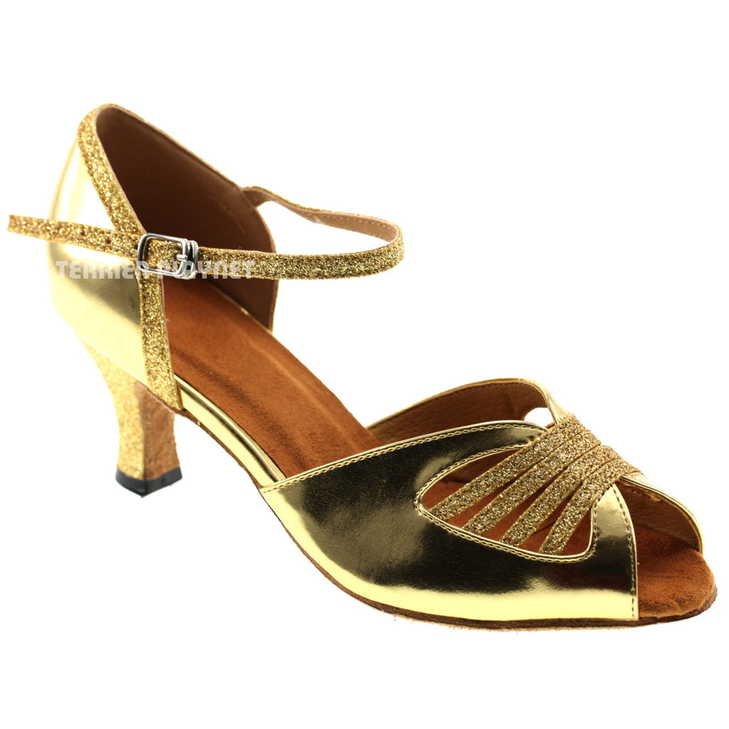 Gold Women Dance Shoes D351