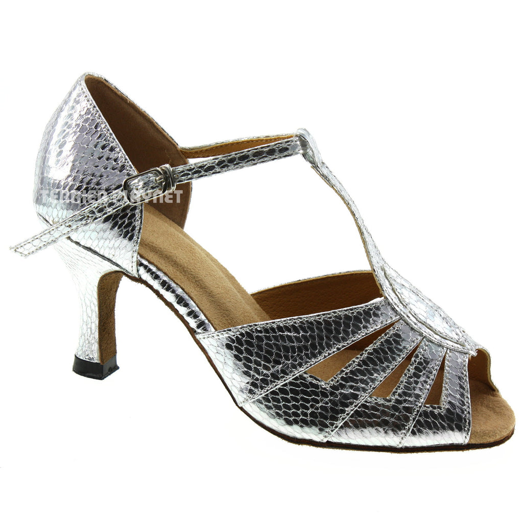 Silver Women Dance Shoes D353 - Terrier Playnet Shop