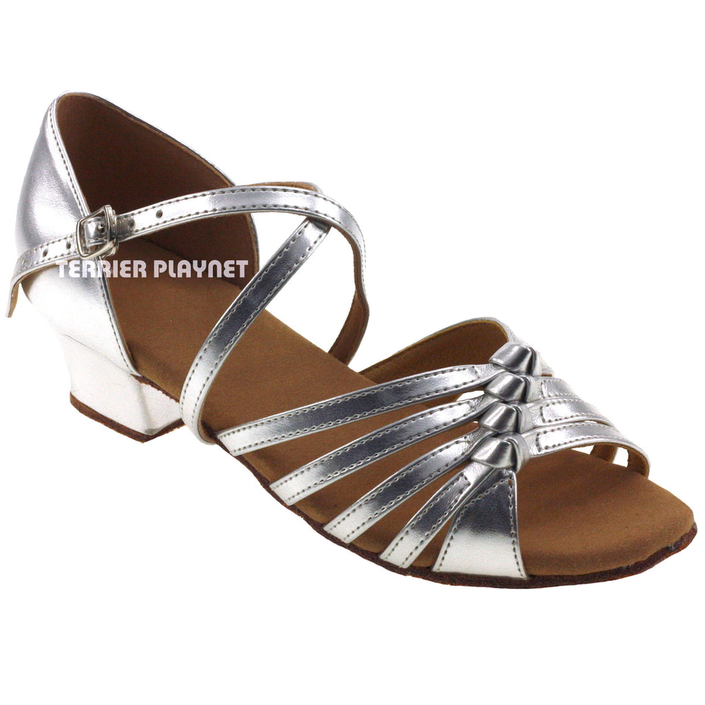 Silver Children Dance Shoes D362C - Terrier Playnet Shop