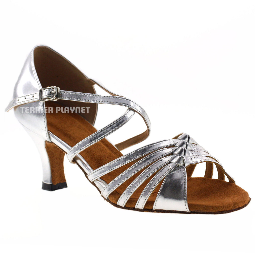 Silver Women Dance Shoes D362