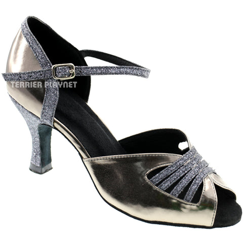Gray Women Dance Shoes D369