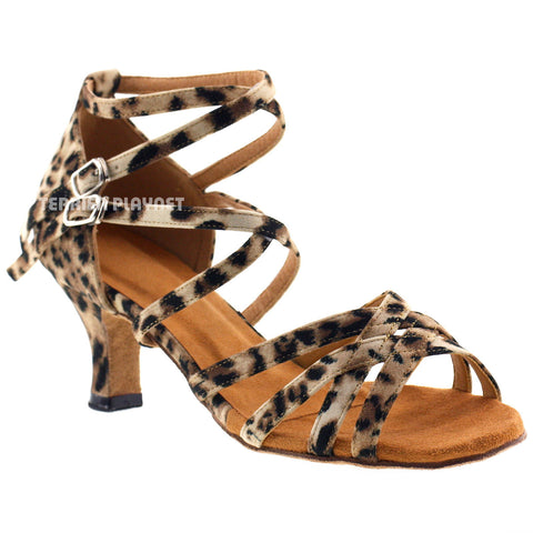 Leopard Women Dance Shoes D373