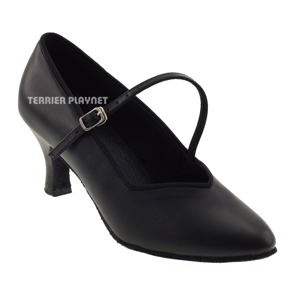 Black Women Dance Shoes D387 - Terrier Playnet Shop
