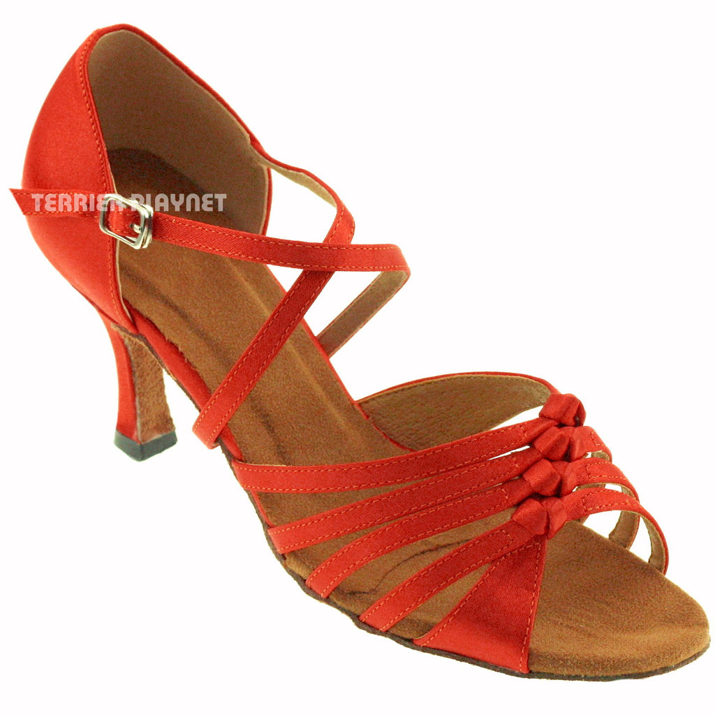 Orange Women Dance Shoes D394