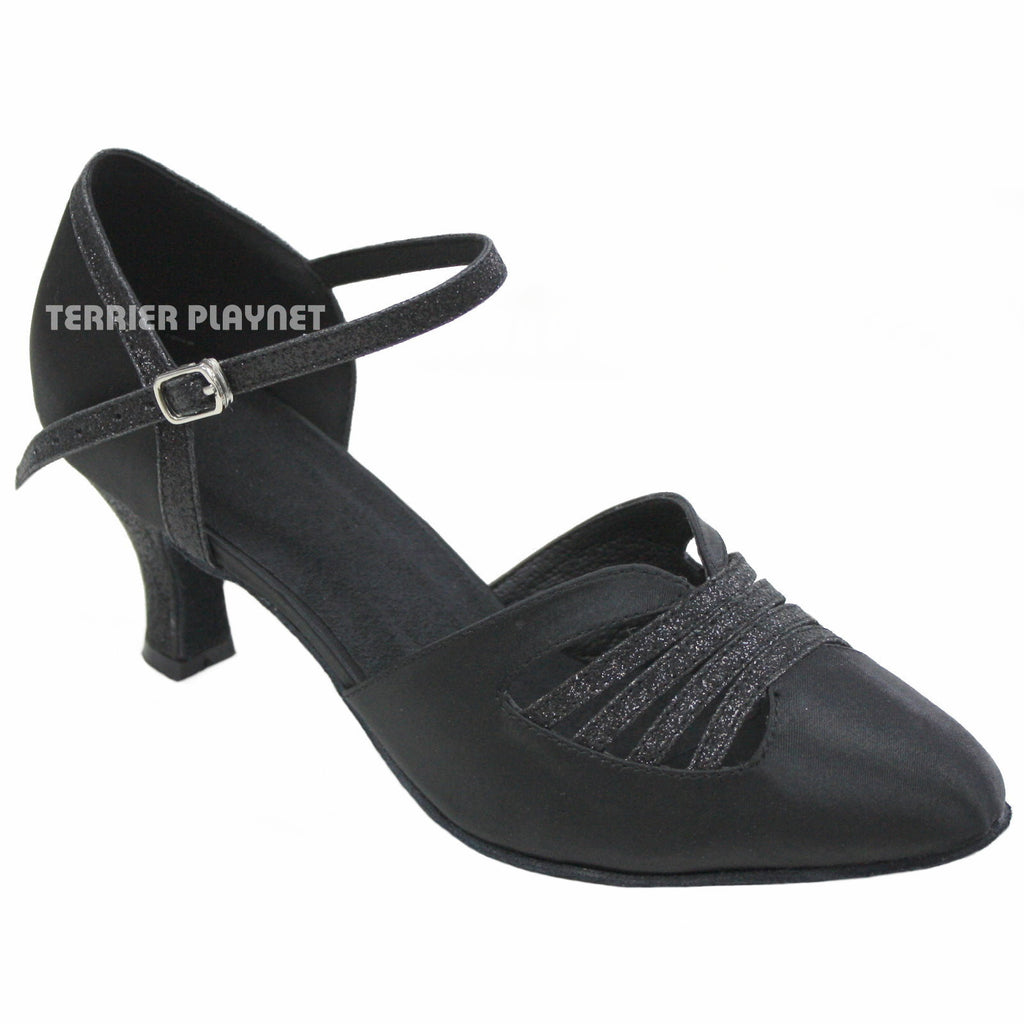 Black Women Dance Shoes D401 - Terrier Playnet Shop