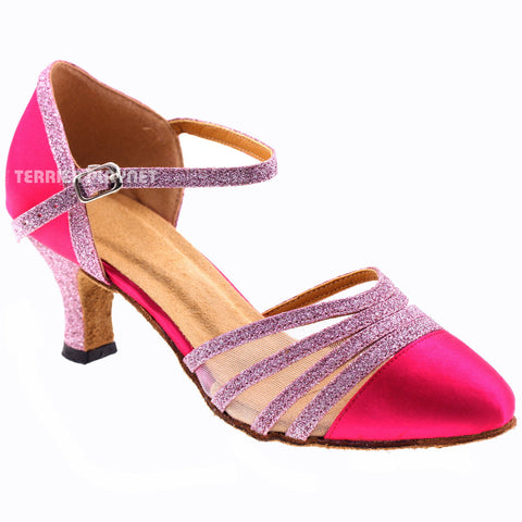 Hot Pink Women Dance Shoes D405