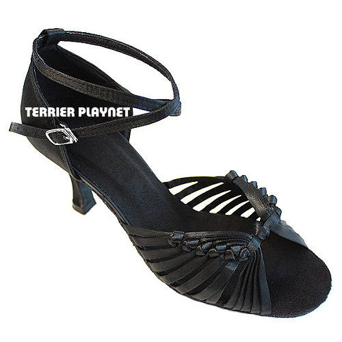 Black Women Dance Shoes D413 - Terrier Playnet Shop