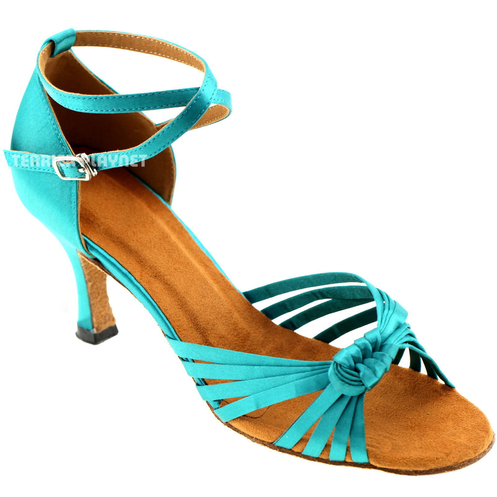 Turquoise Women Dance Shoes D425 - Terrier Playnet Shop