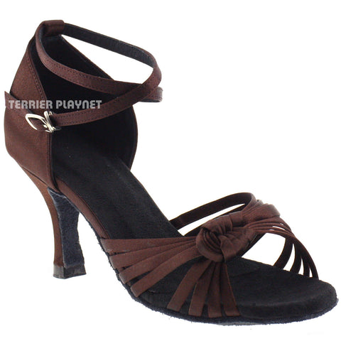 Brown Women Dance Shoes D431