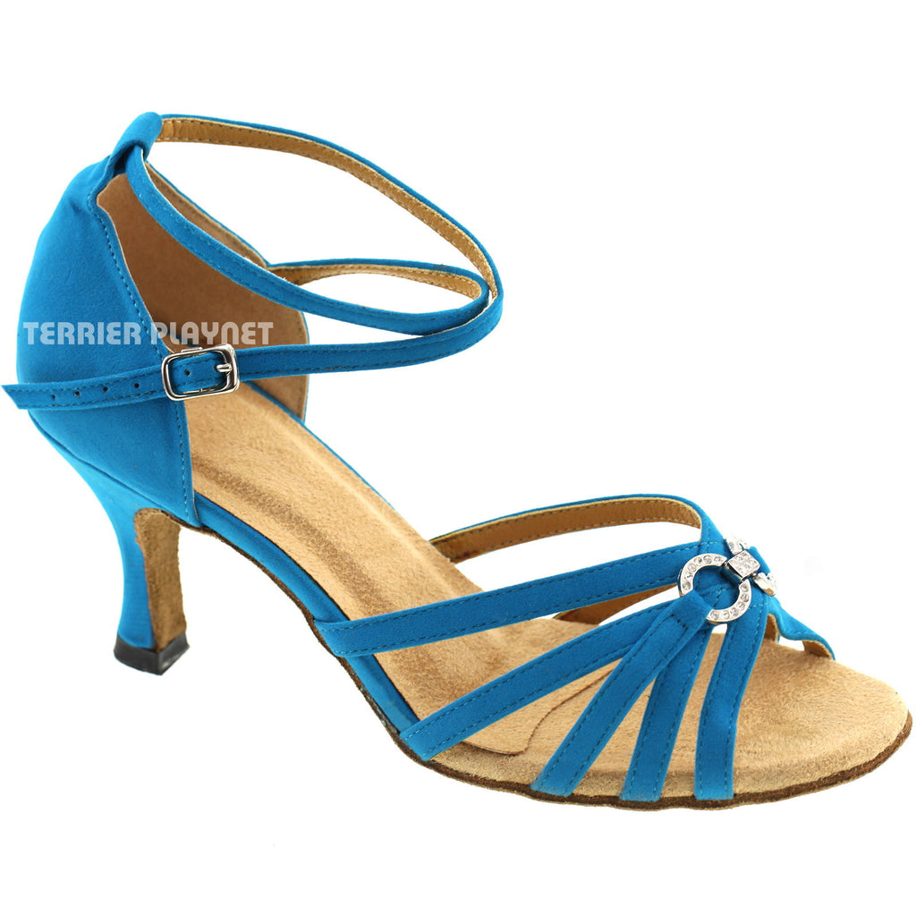 Light Blue Women Dance Shoes D445