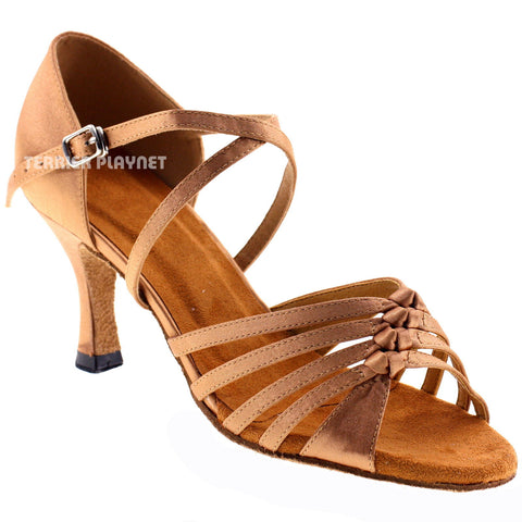 Tan Women Dance Shoes D464