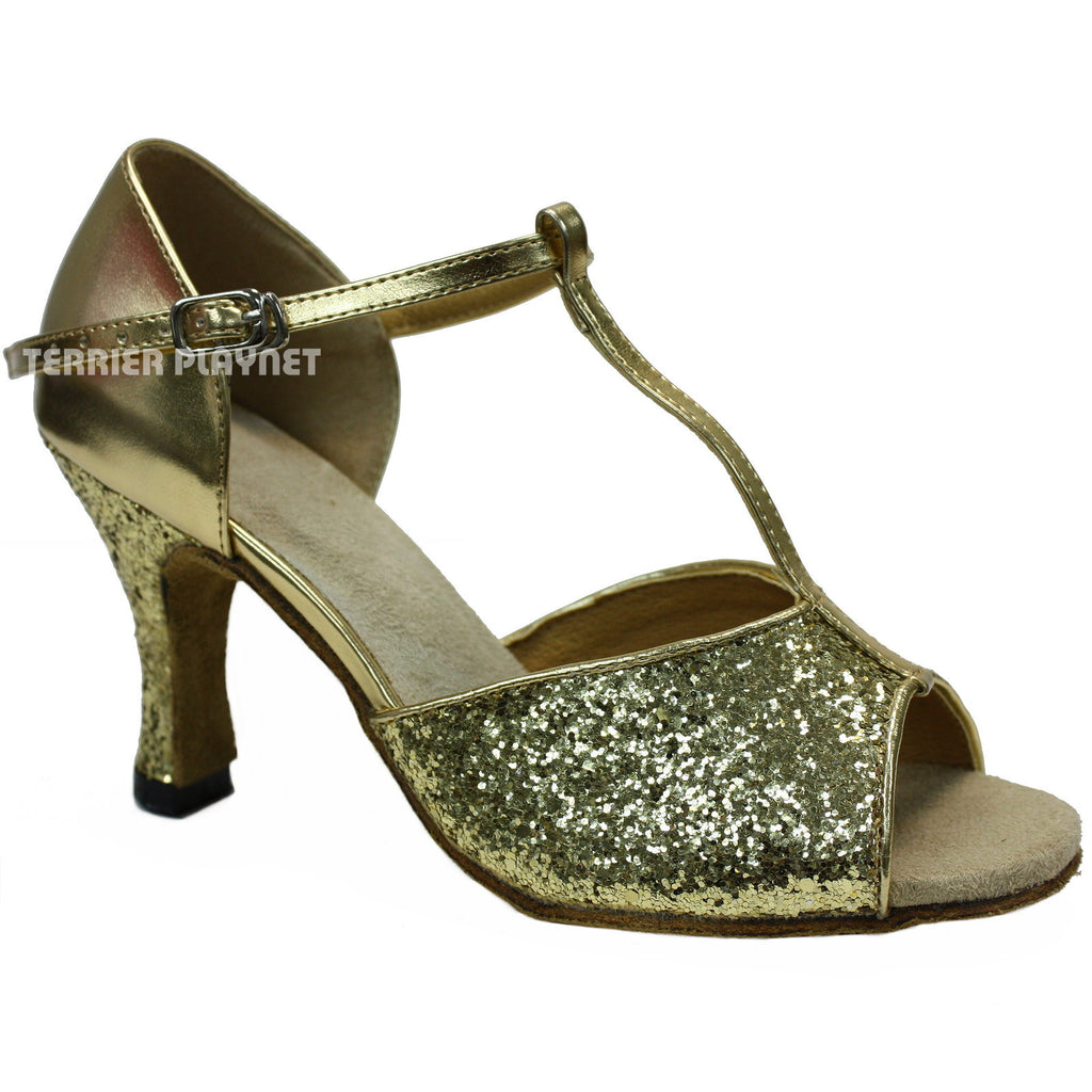 Gold Women Dance Shoes D471