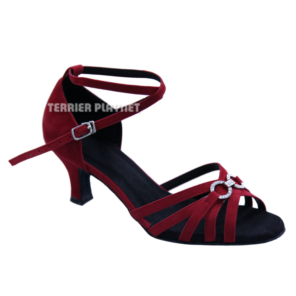 Red Women Dance Shoes D491 - Terrier Playnet Shop