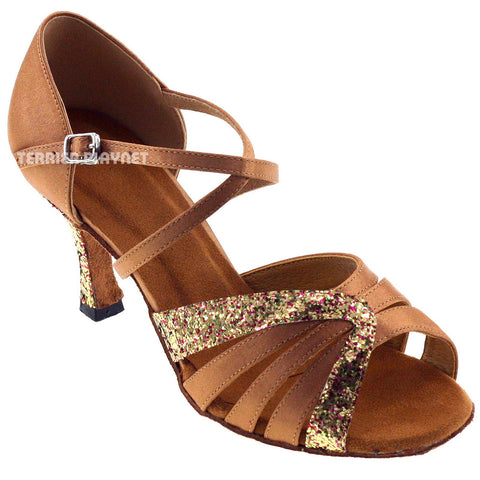 Tan Women Dance Shoes D494