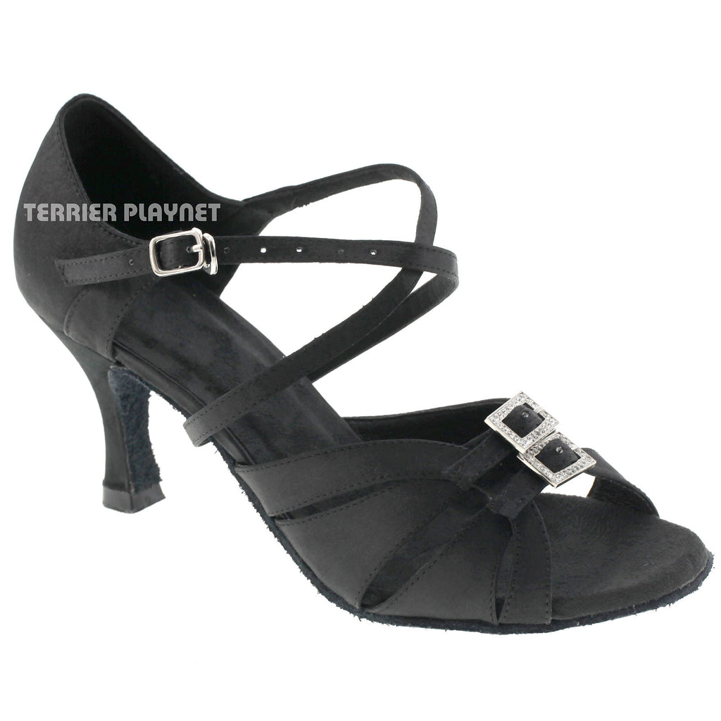 Black Women Dance Shoes D522 - Terrier Playnet Shop