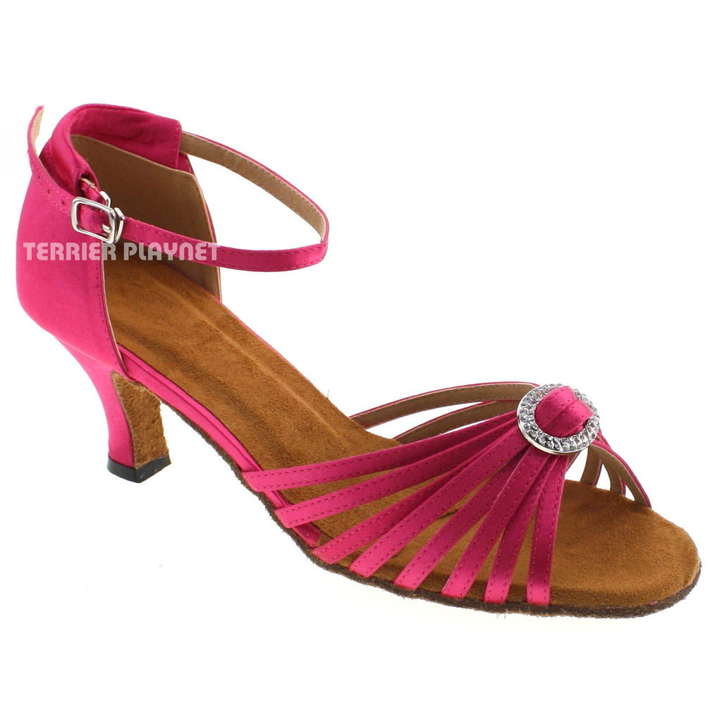 Hot Pink Women Dance Shoes D533 UK5.5/US8/EU39 2.5 Inches/6.25cm Heel
