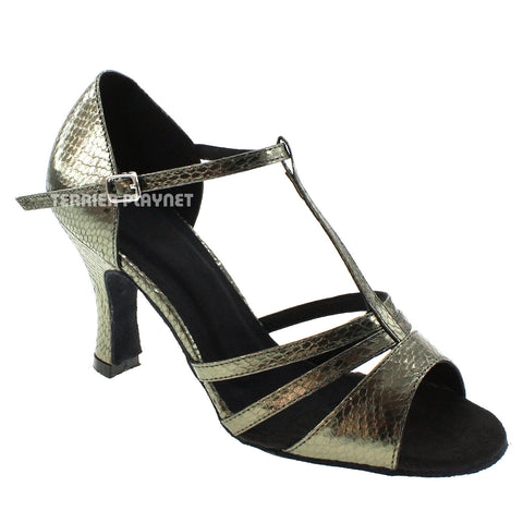 Gray Women Dance Shoes D539