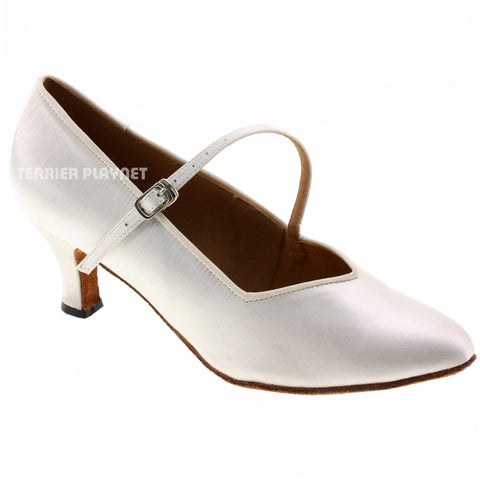 White Women Dance Shoes D541