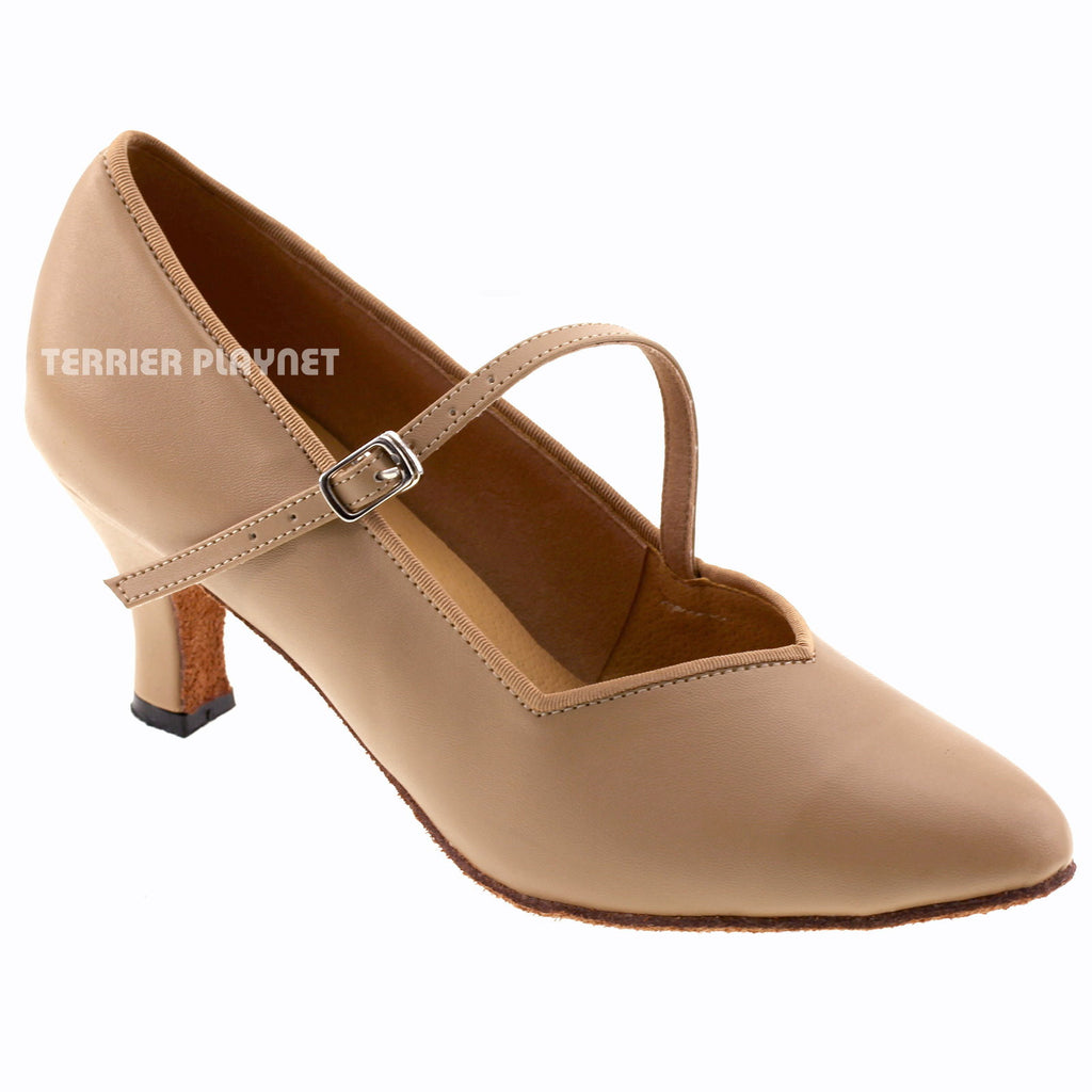 Light Brown Women Dance Shoes D542