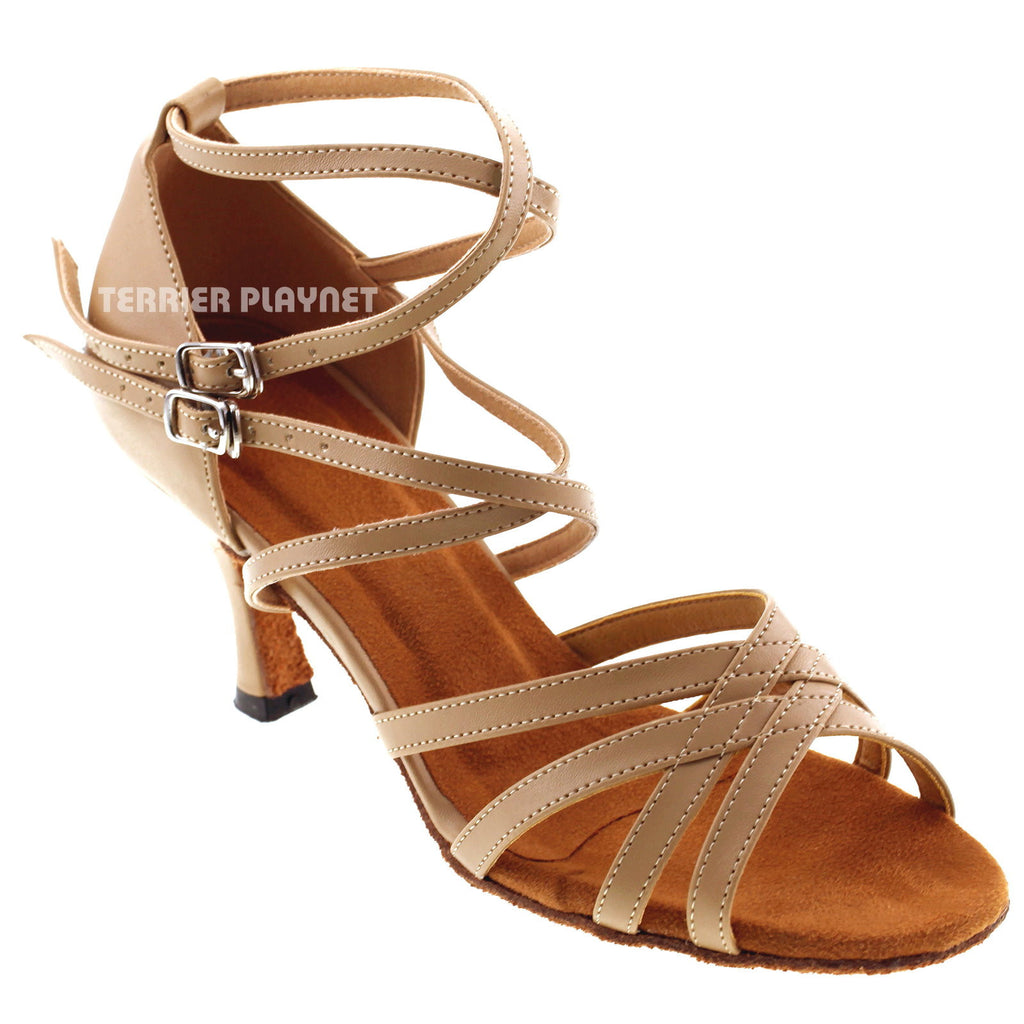 Light Brown Women Dance Shoes D543