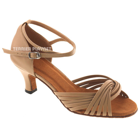 Light Brown Women Dance Shoes D544 UK5.5/US8/EU39 1.5 Inches/3.75cm Heel