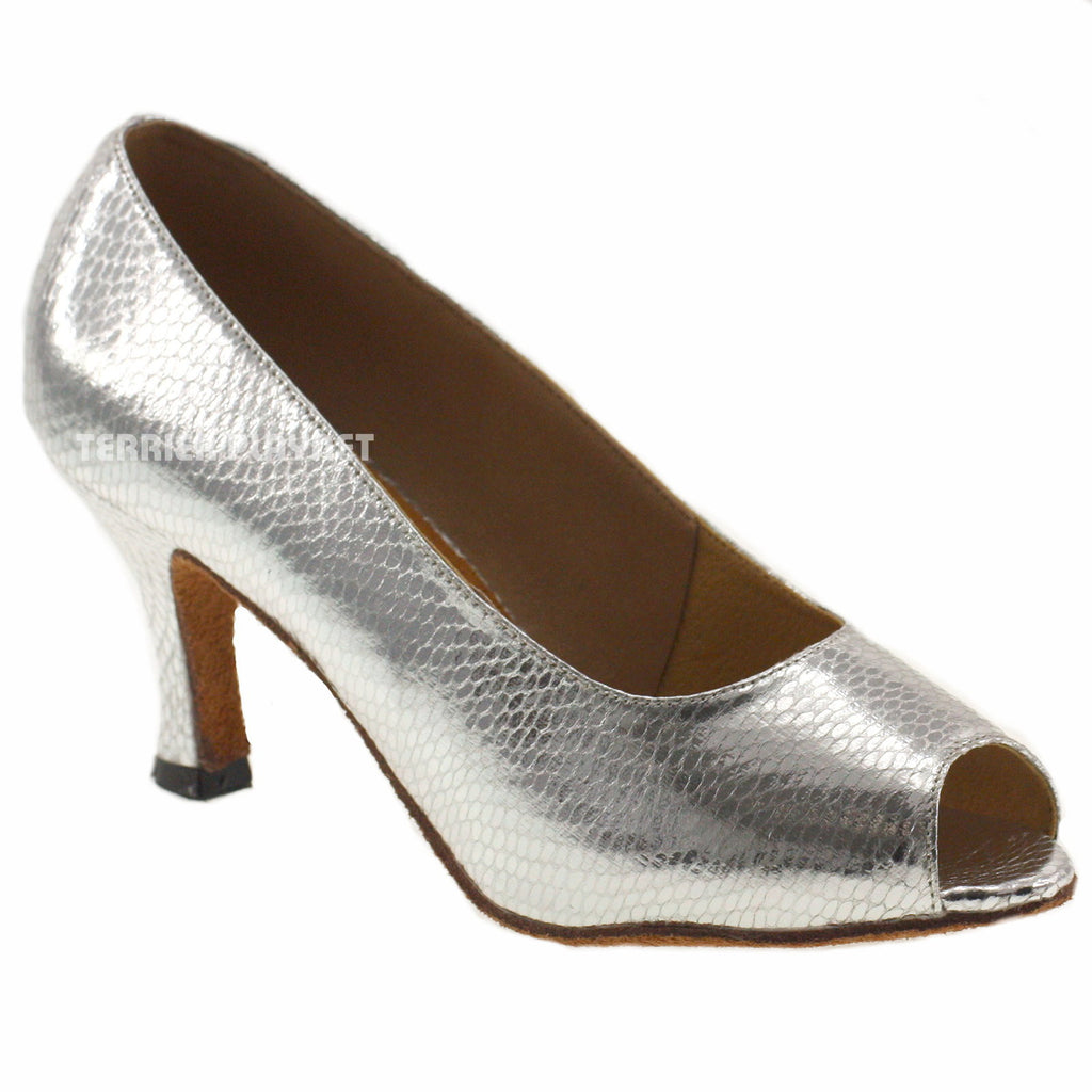 Silver Women Dance Shoes D566 - Terrier Playnet Shop