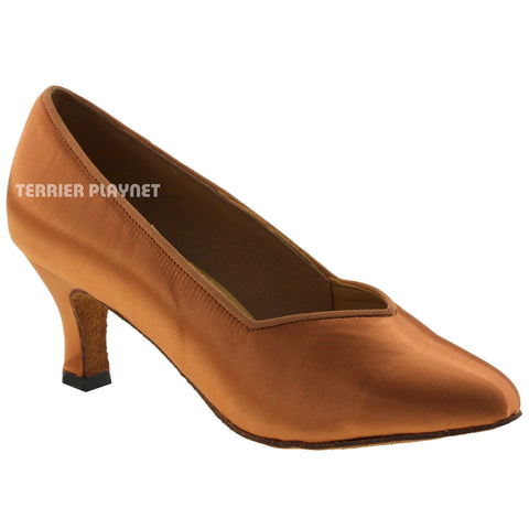 Tan Women Dance Shoes D567