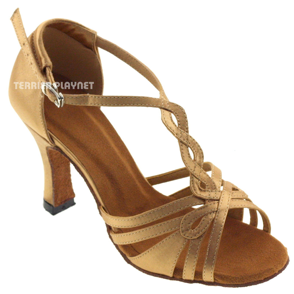 Gold Women Dance Shoes D568