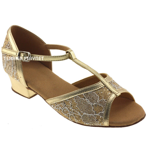 Gold Children Dance Shoes D57C