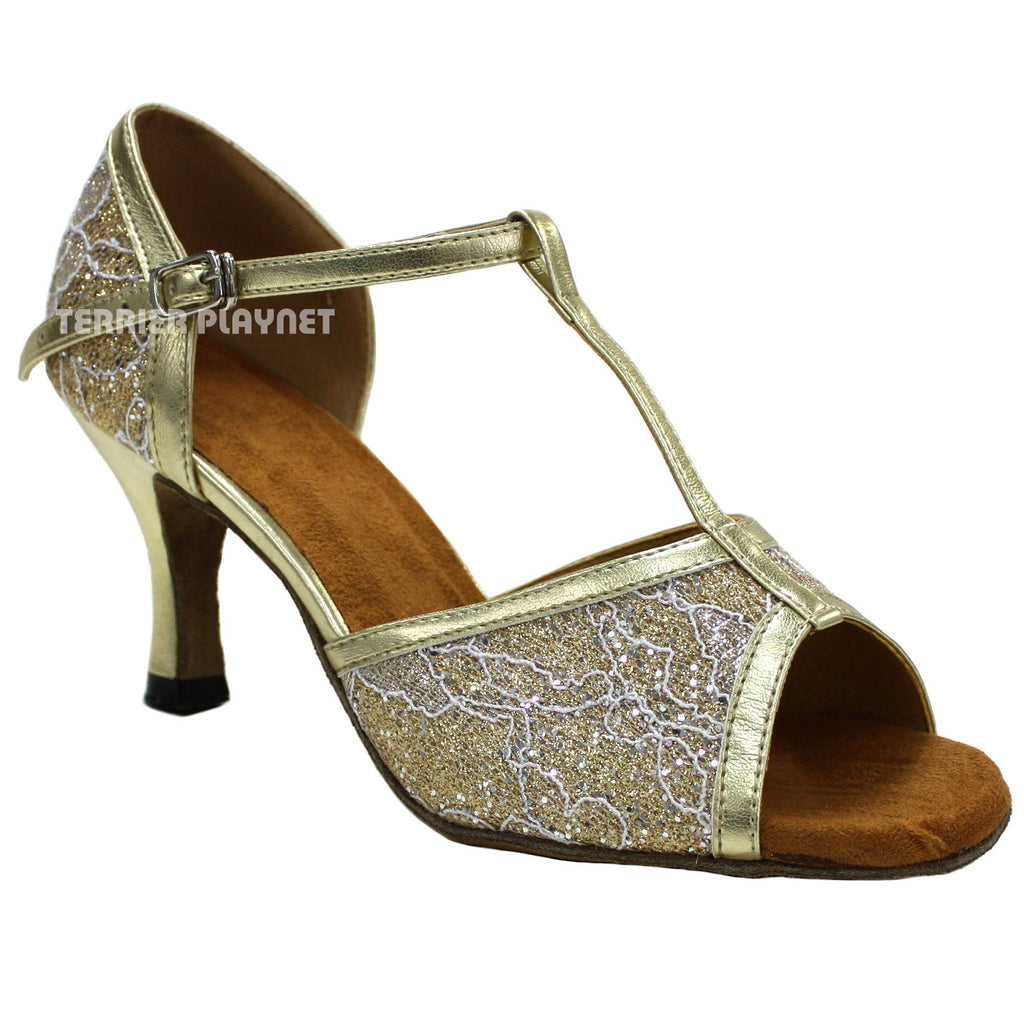 Gold Women Dance Shoes D57