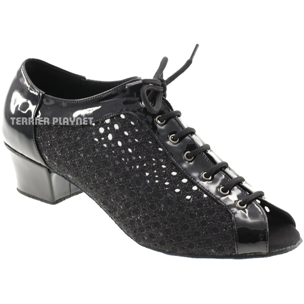 Black Women Dance Shoes D584 - Terrier Playnet Shop