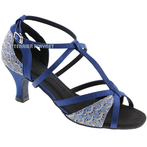 Blue & Gray Women Dance Shoes D586