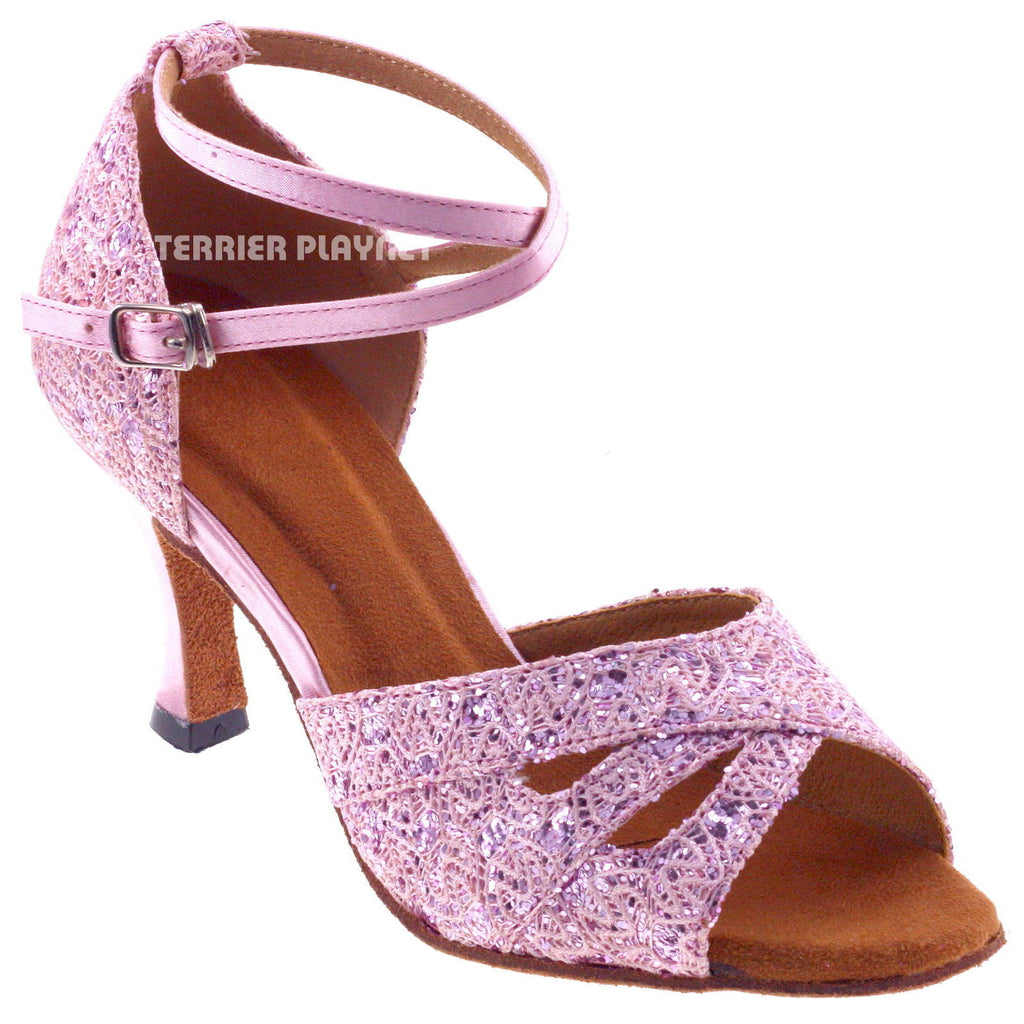 Pink Women Dance Shoes D590 - Terrier Playnet Shop