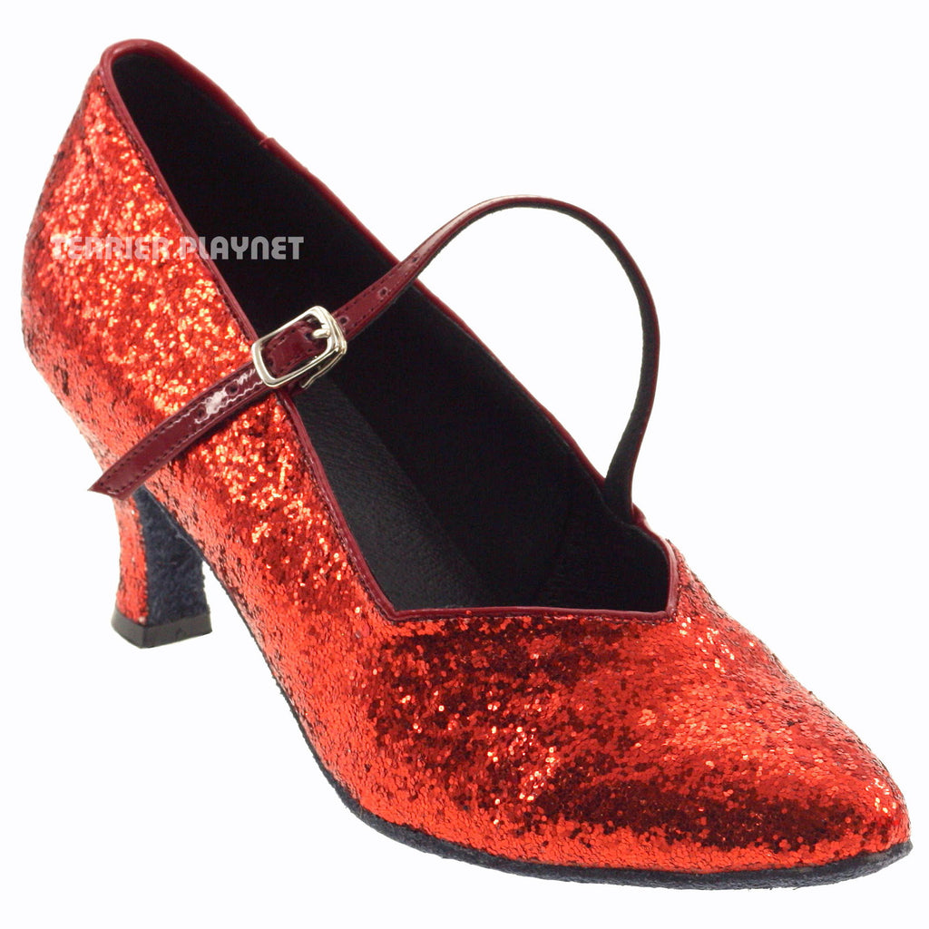Red Women Dance Shoes D593 - Terrier Playnet Shop