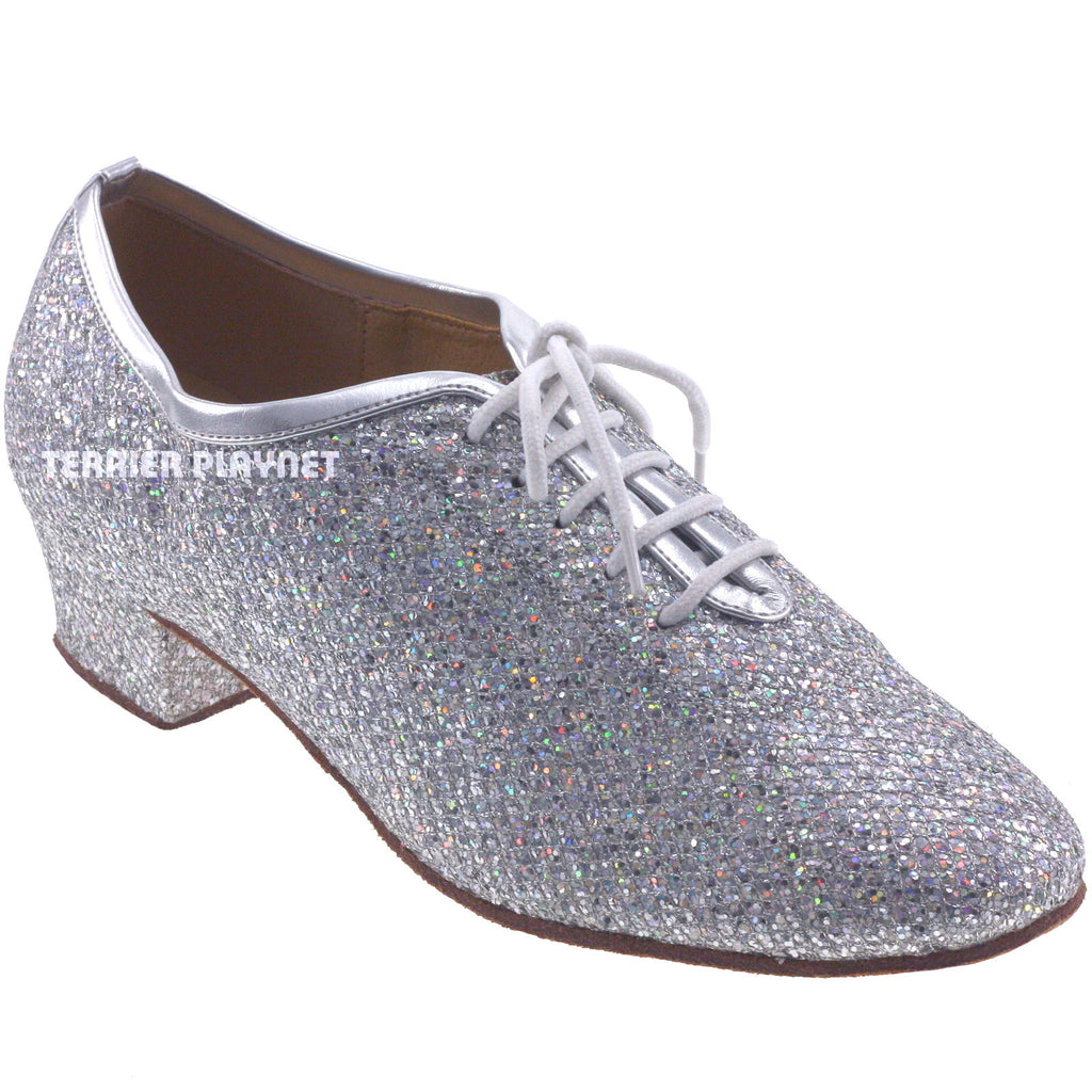 Silver Women Dance Shoes D619 - Terrier Playnet Shop
