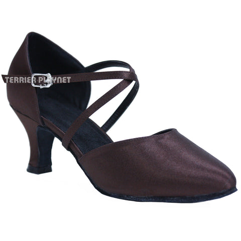 Brown Women Dance Shoes D627