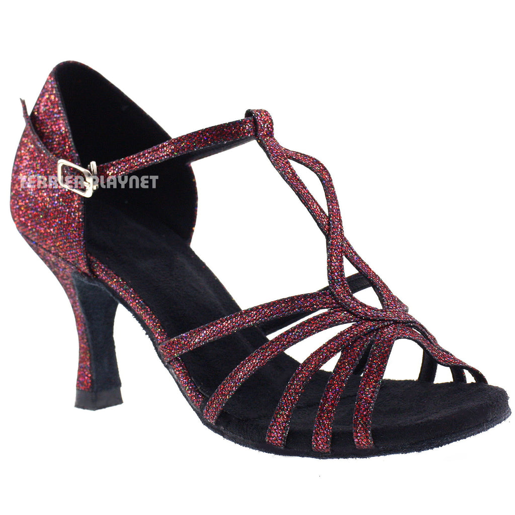 Red Women Dance Shoes D629 - Terrier Playnet Shop
