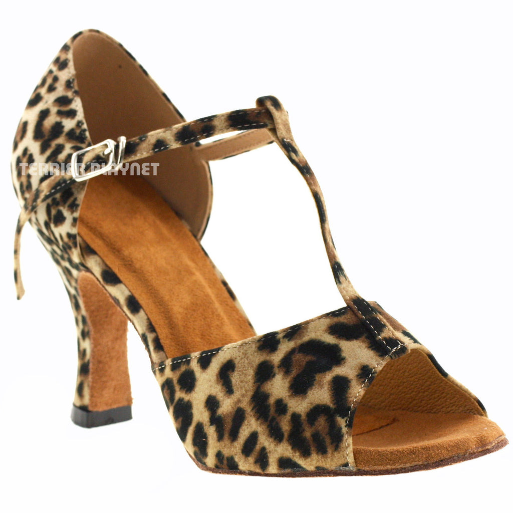 Leopard Women Dance Shoes D630 UK5.5/US8/EU39 3 Inches/7.5cm Heel