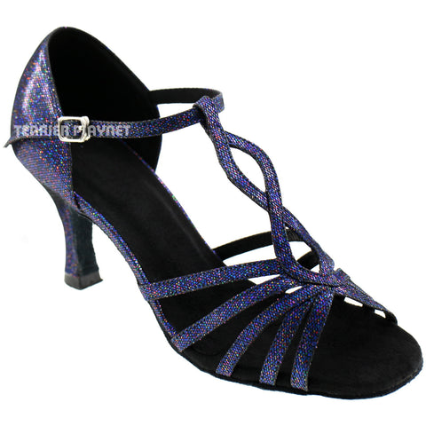 Blue Women Dance Shoes D634