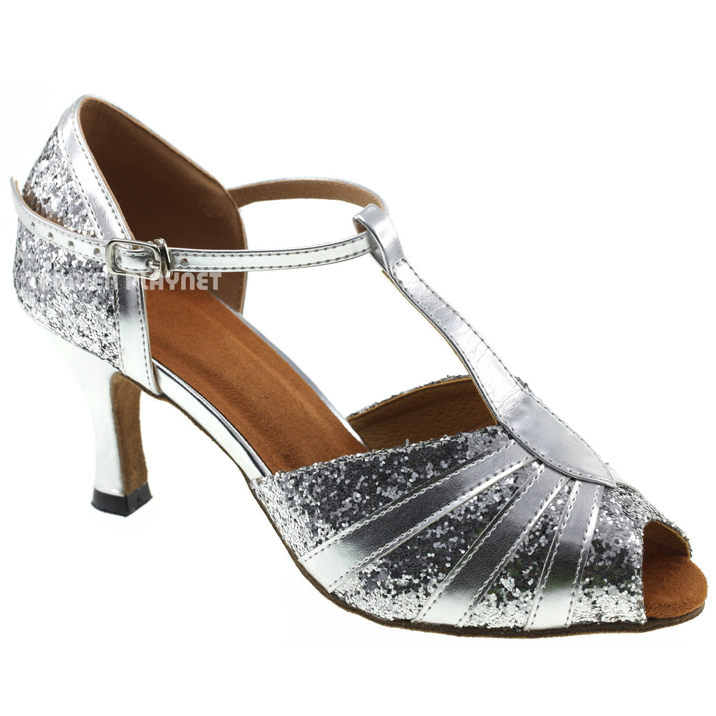Silver Women Dance Shoes D640