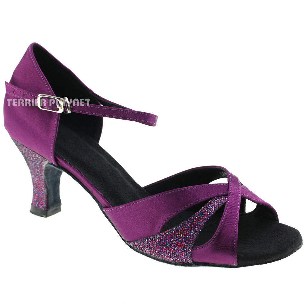 Purple Women Dance Shoes D643