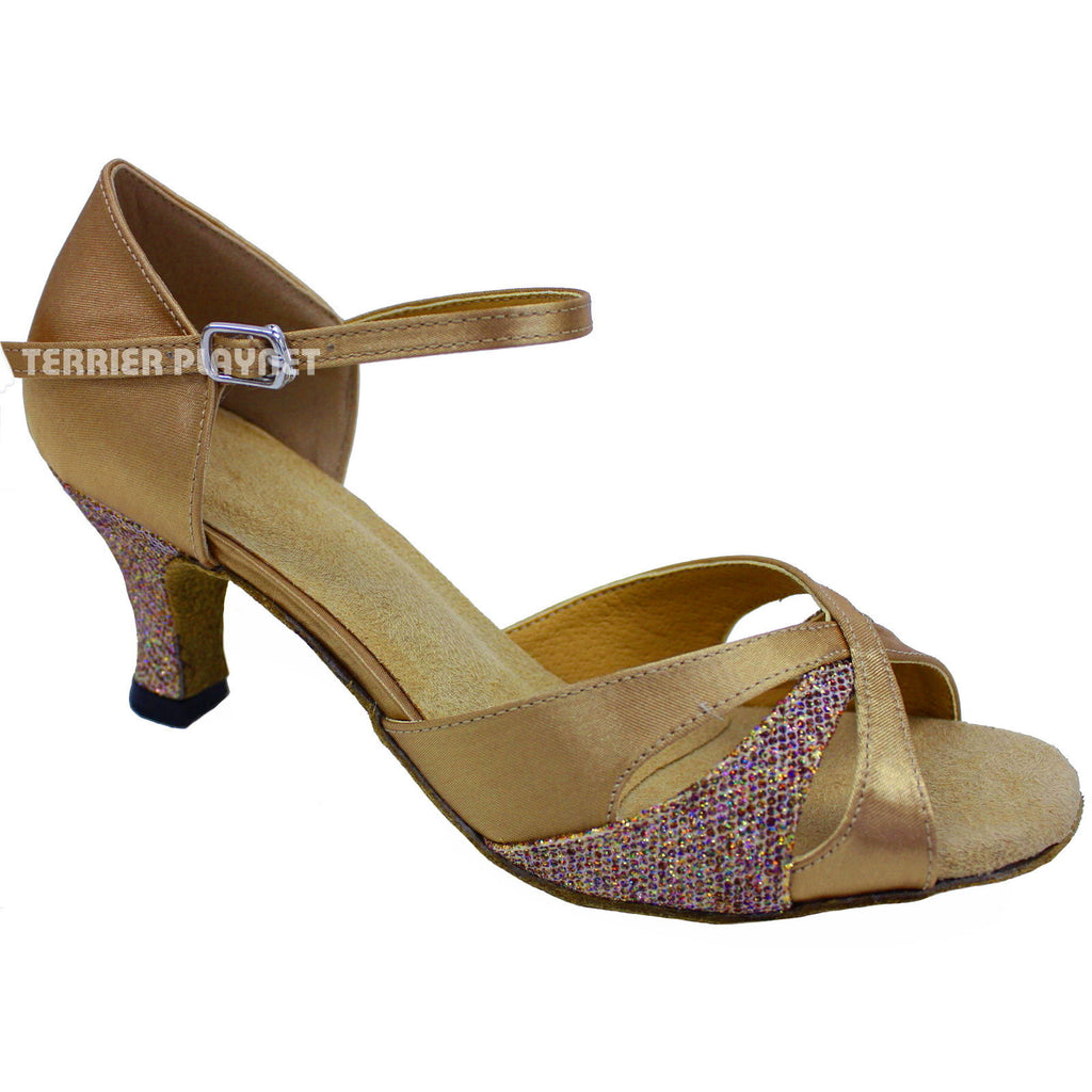 Gold Women Dance Shoes D644