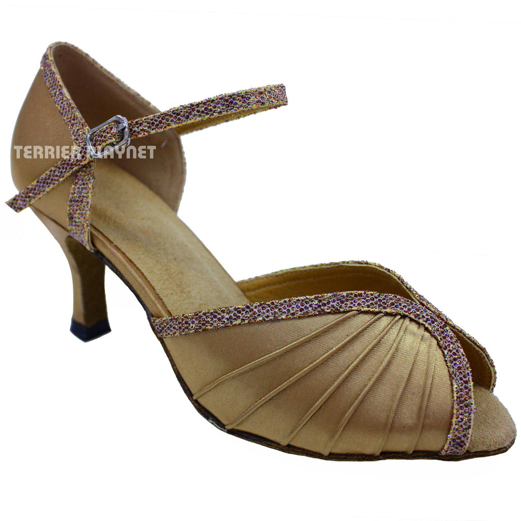 Gold Women Dance Shoes D645