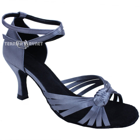 Silver Gray Women Dance Shoes D647