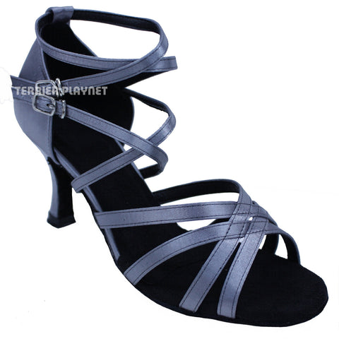 Silver Gray Women Dance Shoes D648