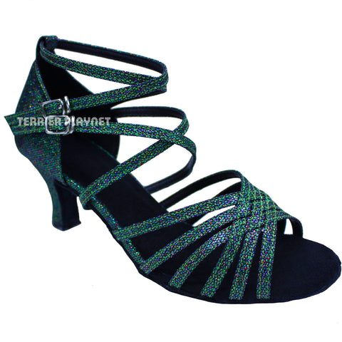 Green Women Dance Shoes D657